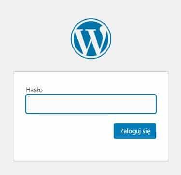 Strona zabezpieczona hasłem