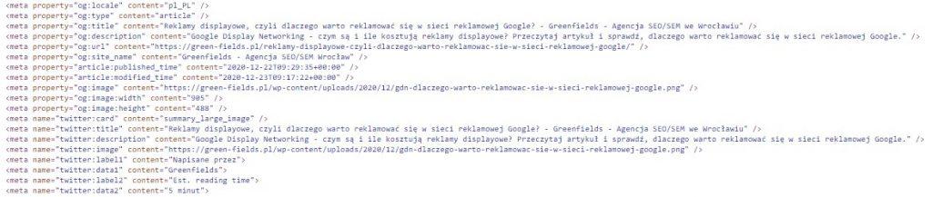 open graph w kodzie strony
