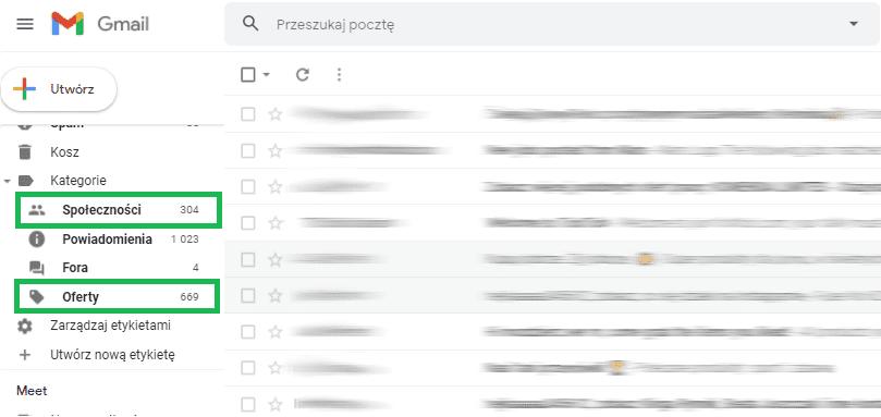 zmiany w gmail dotyczące kampanii reklamowych