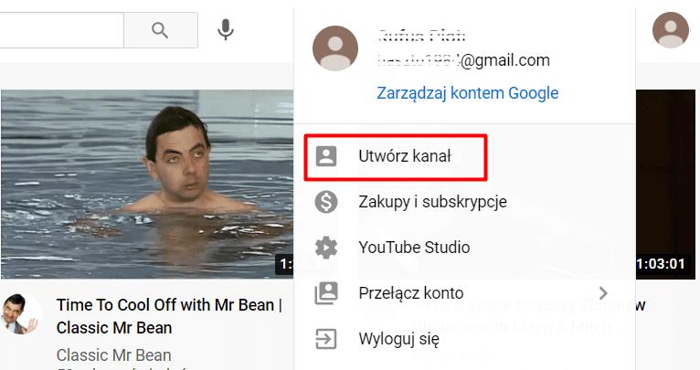Tworzenie kanału YouTube (prywatnego)