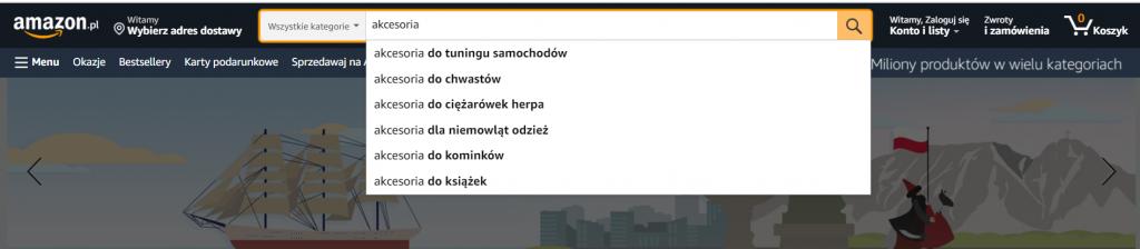 wyszukiwarka amazon algorytm a9