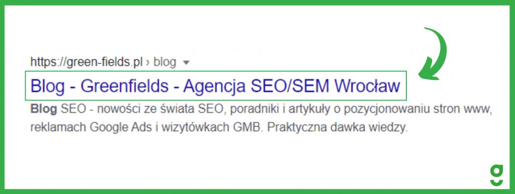 metatag title tytuł strony w wynikach wyszukiwania