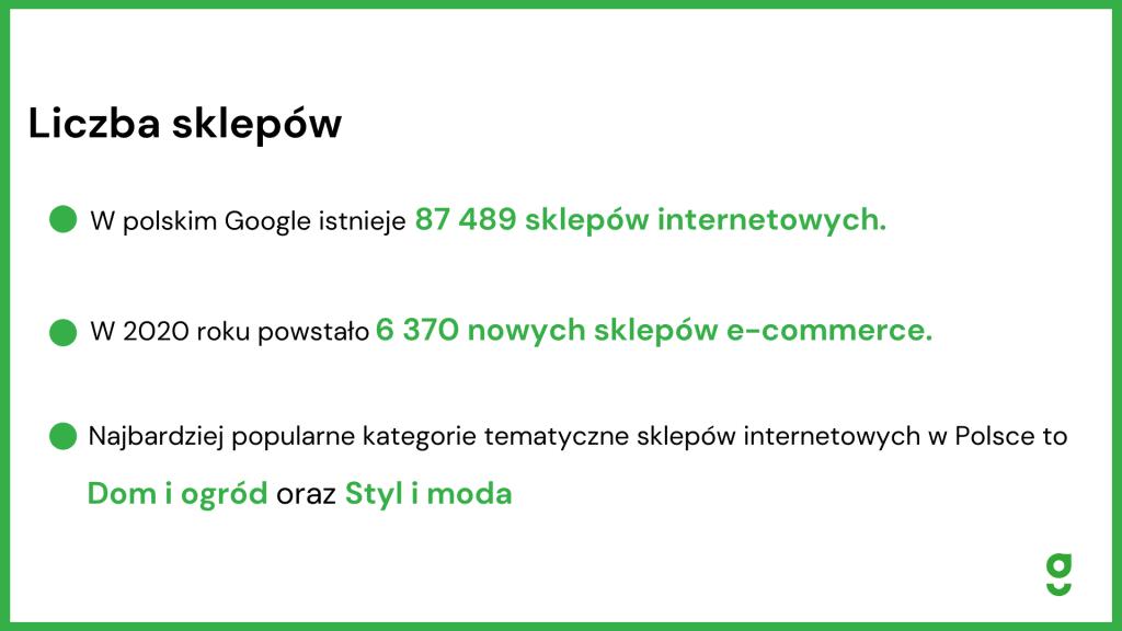 liczba sklepów e-commerce statystyki