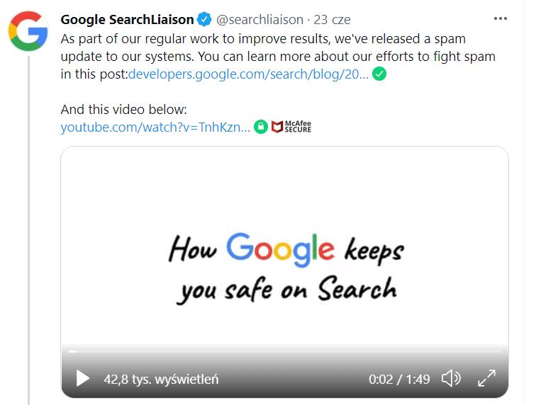google spam update